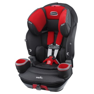 Evenflo SafeMax 3-in-1 Combination Booster Car Seat, Crimson