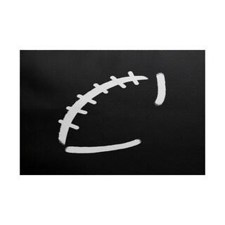 Football, Geometric Print Indoor/Outdoor Rug