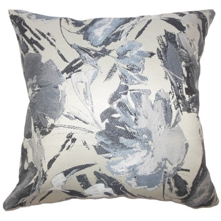 Ece Graphic 22-inch Down Feather Throw Pillow Gray