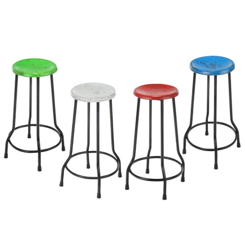 Handmade Farmhouse Antique 26 in. Bar Stool (India)