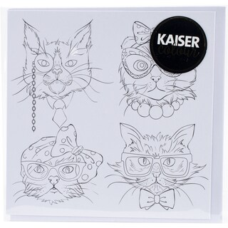 """KaiserColour Gift Card W/Envelope 6""""X6""""-Cat Portraits (2 options available)"""