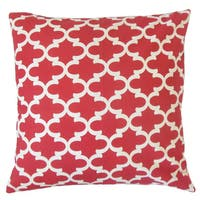 Vilayna Geometric 22-inch Down Feather Throw Pillow Red