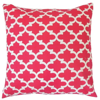 Vilayna Geometric 22-inch Down Feather Throw Pillow Pink