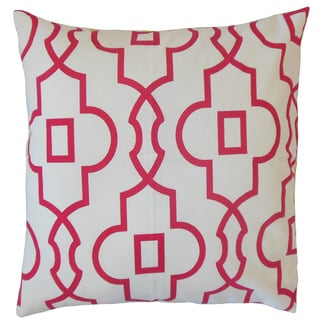 Thandiwe Geometric 22-inch Down Feather Throw Pillow Pink