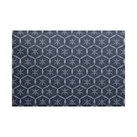 Tufted, Geometric Print Indoor/Outdoor Rug