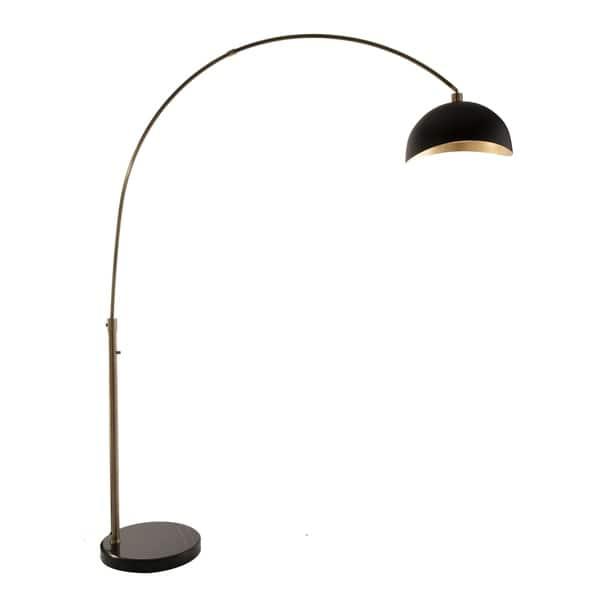 Nova Lighting Luna Bella Black Gold Steel Arc Lamp