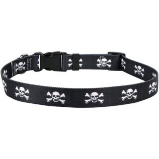 Yellow Dog Collar - Skulls