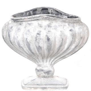 Gold Eagle White Polyresin Table Vase