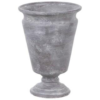 Gold Eagle Grey Polyresin 12-inch Vase