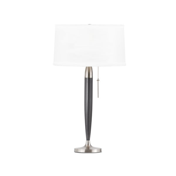 Mid Century Andover Charcoal Grey Table Lamp