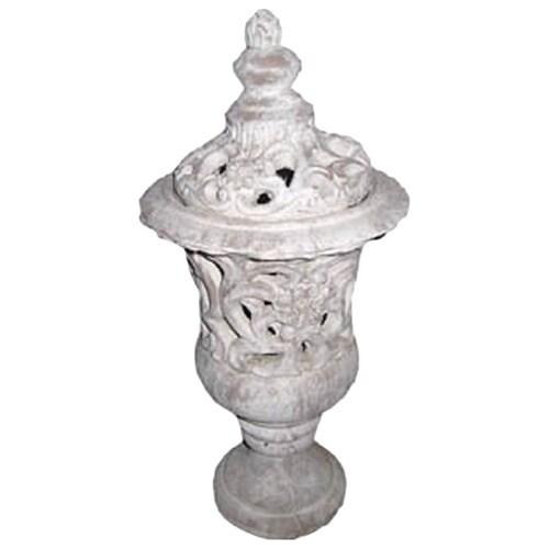 Gold Eagle White Polyresin 21-inch Urn Vase