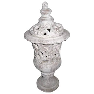 Gold Eagle White Polyresin 21-inch Urn Vase