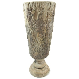 Gold Eagle Tan Polyresin Vase with Feet