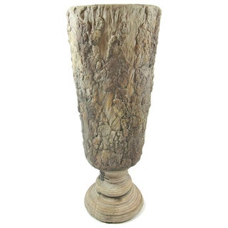 Gold Eagle Tan Polyresin Vase with Feet