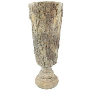 Gold Eagle Tan Polyresin Footed Table Vase