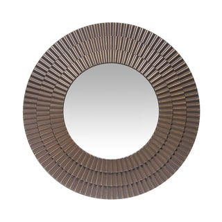 Infinity Instruments La Grada; a 22-in Antique Brass Wall Mirror