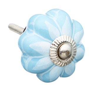 Sky Blue with a White Tint Decorative Cabinet Pulls - Pack of 6