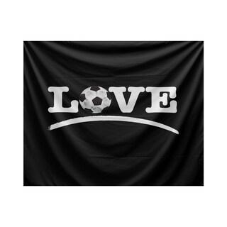 Love Soccer, Word Print Tapestry