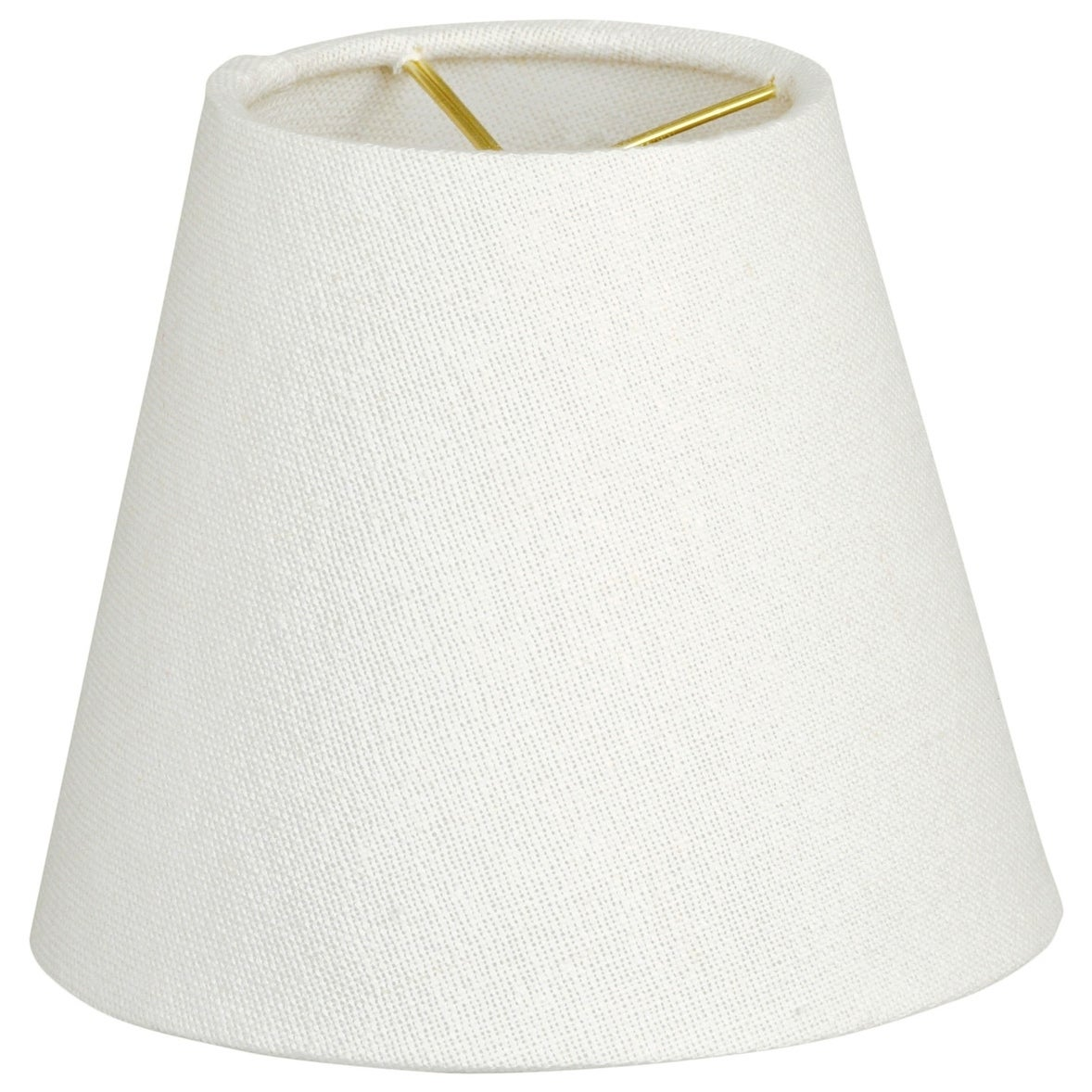 Royal Designs Hardback Empire Linen White 4 X 6 X 5 5 Inch Clip On Chandelier Lamp Shade Set Of 6 Overstock 15296388