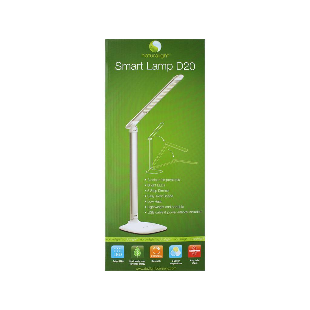 Daylight Company Table Lamp Smart Lamp D20 Metallic (Grey...