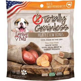 Totally Grainless Meaty Chewy Bones For Large Dogs 6oz-Beef & Sweet Potato