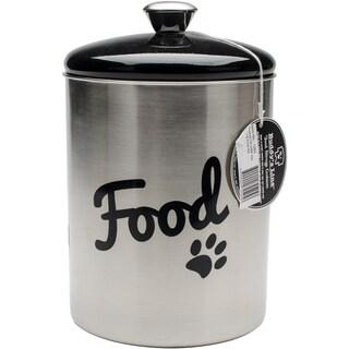 Stainless Steel & Black Top Treat & Food Set 2pc-Black Top