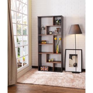 Acme Furniture Chas Espresso/Walnut Veneer Cube Bookcase