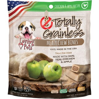 Totally Grainless Meaty Chewy Bones For Small Dogs 6oz-Chicken & Apple