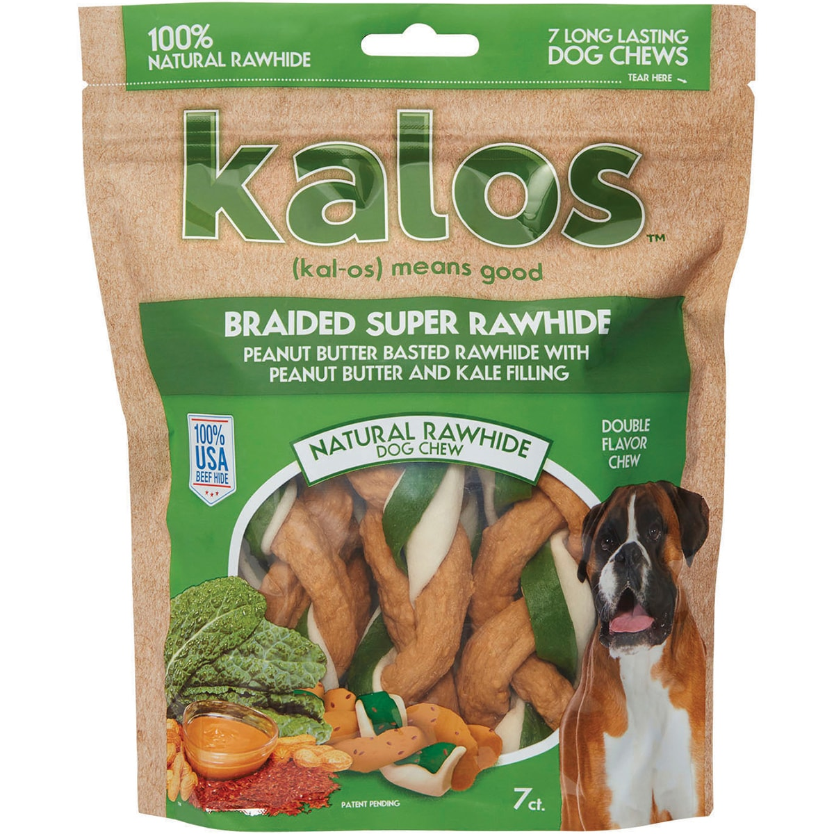"Jakks Kalos-Rawhide Triple Braids 5"" 7 Pack-Peanut Butter..."