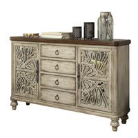 Acme Furniture Vermont Antique White Wood Console Table