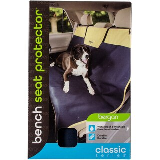Bergan Classic 600D Polyester Auto Bench Seat Protector-Navy/Sand