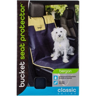 Bergan Classic 600D Polyester Auto Bucket Seat Protector-Navy/Sand