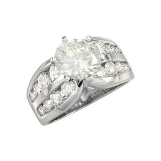"""Antwerp's """"DOUBLE ROW CHANNEL SEMI"""" wedding band (More options available)"""