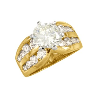 """Antwerp's """"DOUBLE ROW CHANNEL SEMI"""" wedding band (3 options available)"""