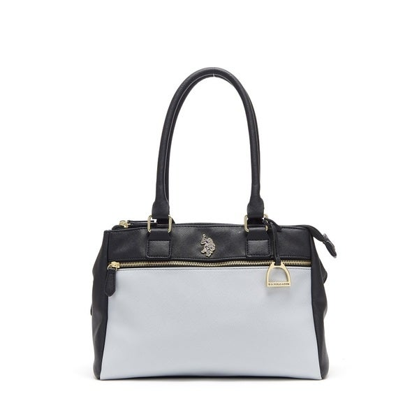 4688a7f9d71b U.S. Polo Association Jenna Color Block Faux Leather Triple Entry Satchel  Handbag