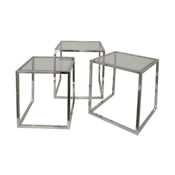 Three Hands Set Of Three Nesting Table