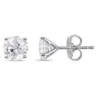 Miadora Signature Collection 14k White Gold 1 5/8ct TDW Diamond Martini-Style Stud Earrings