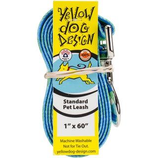 Yellow Dog Lead - Blue & Green Argyle W/Stripes