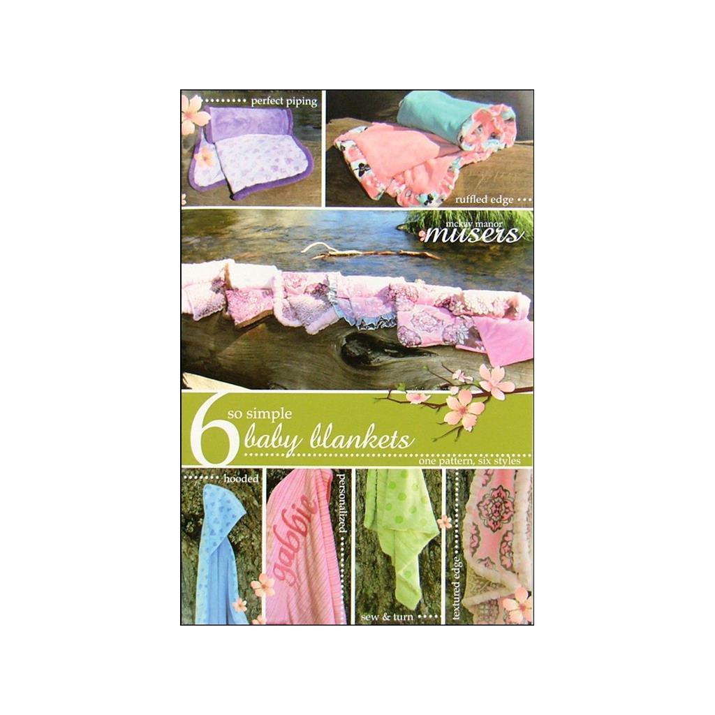 Mckay Manor Musers So Simple Baby Blankets 6 Ptrn (So Sim...