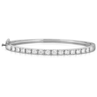 Noray Designs 14K White Gold 1.50 ct Diamond Bangle