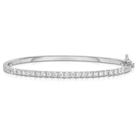 Noray Designs 14K White Gold 1.35ct Diamond Bangle