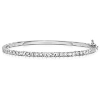 Noray Designs 14K White Gold 1.35ct Diamond Bangle