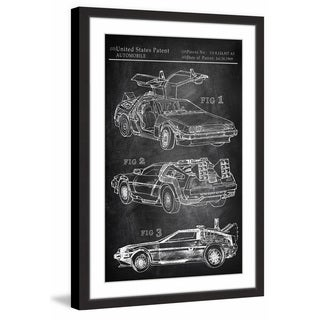 Back to the Future Car' Framed Painting Print