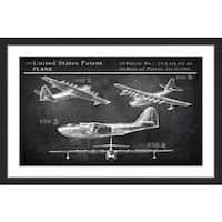 Historical Airplane' Framed Painting Print