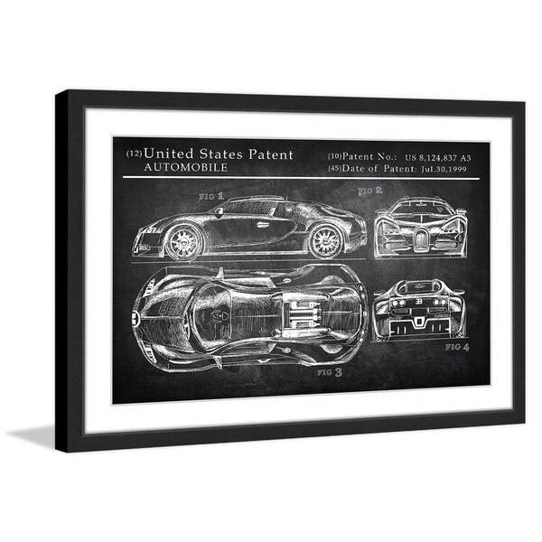 Bugatti Chiron' Framed Painting Print