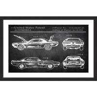 1969 Boss Mustang' Framed Painting Print
