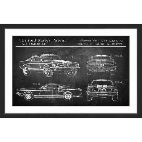 Mustang Shelby Design' Framed Painting Print