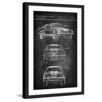 Mustang Shelby' Framed Painting Print