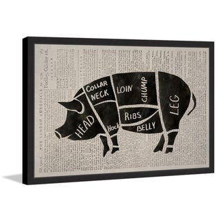 Pork Cuts' Framed Painting Print