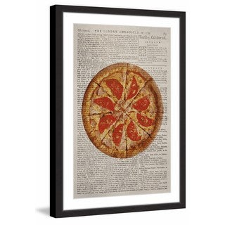 Salami Pizza' Framed Painting Print